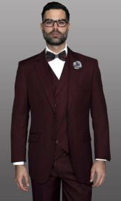 Mens Suit Statement Brand Athletic Fit