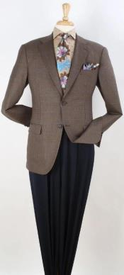 Mens Blazer Dark Brown Windowpane