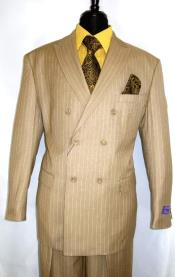 Mens Double Breasted Suit Peak Lapel