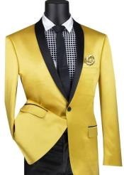 Mens Yellow Tuxedo Blazer - Yellow