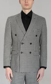 Six Button Suit Black and White