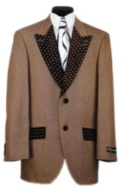 Mens Rust Low Peak Lapel Denim