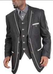 Denim blazer - Denim Sport Coat Jacket (No Pants)