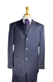 Navy Blue and Turquoise Blue Pinstripe