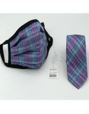 Face Mask And Matching Tie Set Purple ~ Blue