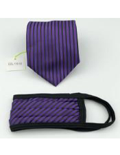 Hand Washable Protective Face Mask And Matching Tie Set