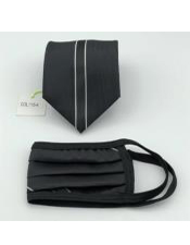 Face Mask And Matching Tie Set White