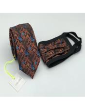 Face Mask And Matching Tie Set Rust