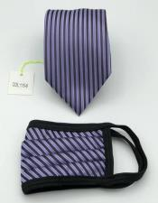 Face Mask And Matching Tie Set Lavender