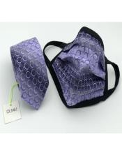 Face Mask And Matching Tie Set Purple Circle