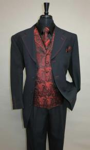 Mens Four Button Single Breasted Suit
