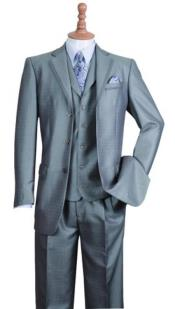 Mens Notch Lapel Three Buttons Style
