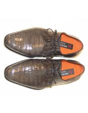 Mens Mezlan Full Baby Alligator Plain
