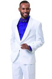 Samuel 2pc Mens Tuxedo White