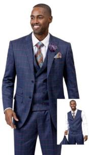 Samuel Fashion Fashion Suit Blue With Pink