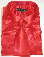 Red Colorful Mens Dress Shirt