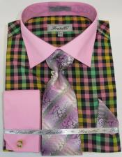Pink Colorful Mens Dress Shirt