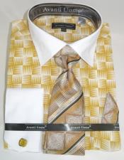 Gold Colorful Mens Dress Shirt