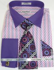 Multi Colorful Mens Dress Shirt