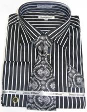 Pinstripe Colorful Mens Dress Shirt