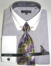 Micro Diamond Colorful Mens Dress Shirt
