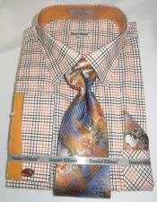 Orange Colorful Mens Dress Shirt