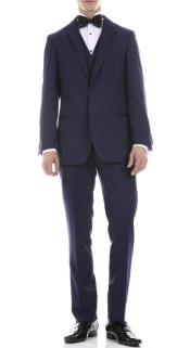 Navy Slim Fit 3pc Tuxedo