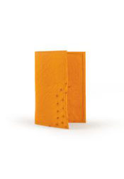 Smooth Ostrich Checkbook Buttercup