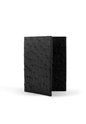 Quill Ostrich Checkbook Black
