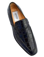 Black Color Crocodile Loafers Shoes
