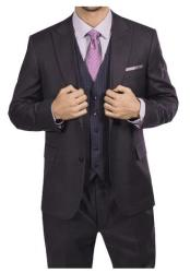 Steve Harvey Brown Two Button Jacket Single Breasted Suit