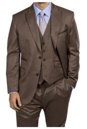 Steve Harvey Light Brown Two Button Jacket Single Breasted