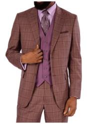Steve Harvey Mauve Two Button Jacket Single Breasted Suit