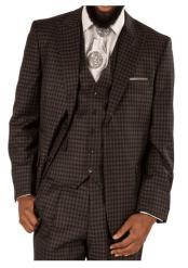 Steve Harvey Gray ~ Black Plaid Two Button Jacket