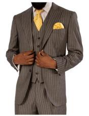 Steve Harvey Gray Pinstripe 2 Button Single Breasted Suit