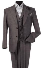 Steve Harvey Gray 2 Button Single Breasted Suit 120800