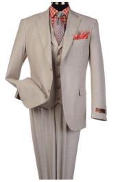 Steve Harvey Tan 2 Button Single Breasted Suit 120802
