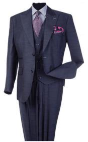 Steve Harvey Blue Peak Lapel Jacket Two Button Single