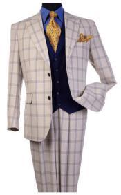 Steve Harvey Tan Peak Lapel Jacket Single Breasted Suit