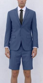 Mens Blue Short Suit