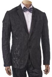 Mens2ButtonBlackSuit