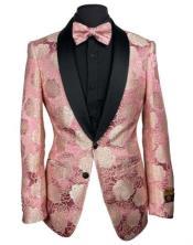 Pink Blazer - Pink Tuxedo Blazer