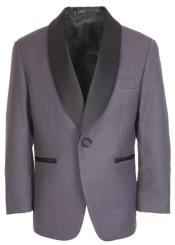 Kids Steel Grey Tuxedo Jacket