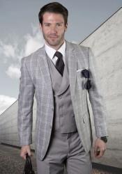 Plaid Suit - Windowpane Suit +
