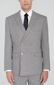 Mens Houndstooth Double Breasted Suit