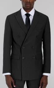 Mens Black Double Breasted Suit