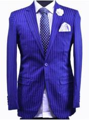 Dark Royal Blue And White Stripe