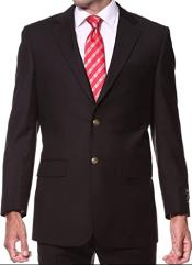 Black Suit With Gold Buttons -