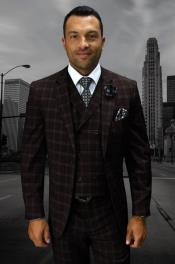 Statement Mens Wool Fashion Suit -
