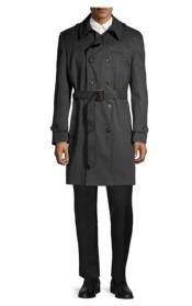 Ralph Lauren Black Trench Coat Belted